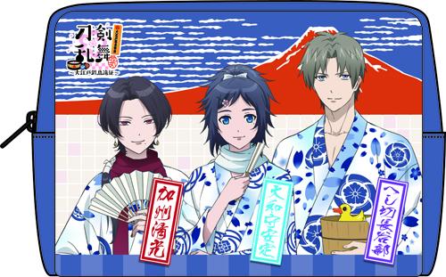 刀剣乱舞-花丸-×大江戸温泉物語 ちりめんポーチ
