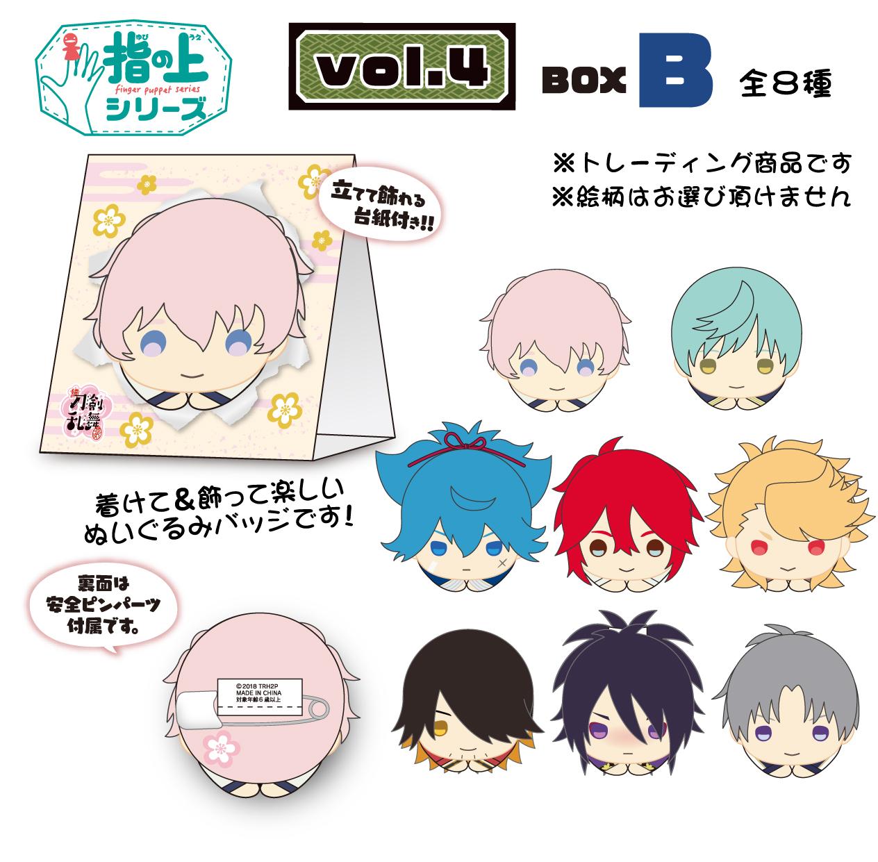 3月29日:指の上シリーズデザイン 飛び出せ!ぬいマスコット vol.4 BOX B